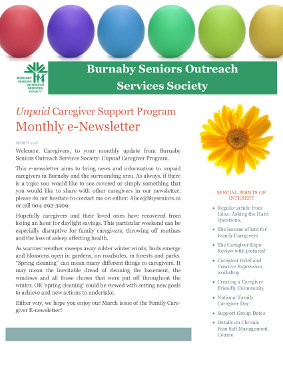 Caregivers Newsletter March 2016