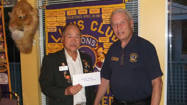 Lions Club donation 2014 photo
